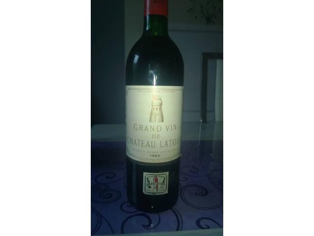 Grand vin de Chateau Latour 1968 appellation pauillac controlée