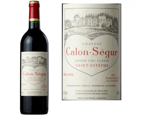 6 bouteilles de Château Calon Segur 2011