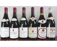 6 bouteilles de Bourgogne grands crus