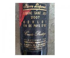 4 bouteilles de vin (1973 - 1985 - 2005 - 2007)