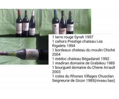 lot de 19 bouteilles de vin rouge