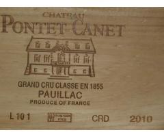 CHATEAU PNTET CANET PAUILLAC 2010 CBO 6 Blles