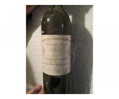 vend un vin CHATEAU CHEVAL BLANC de 1990