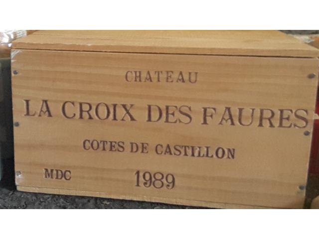 2 caisses de chateau cotes  de castillon 1989